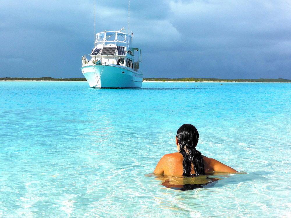 Curtindo um momento de paz em Musha Cay. Foto: David Mattatia