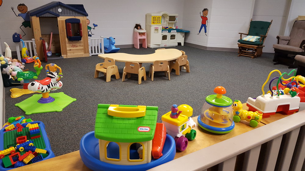 The Nursery Suite consists of the main playroom, nursing mothers room and crib room.