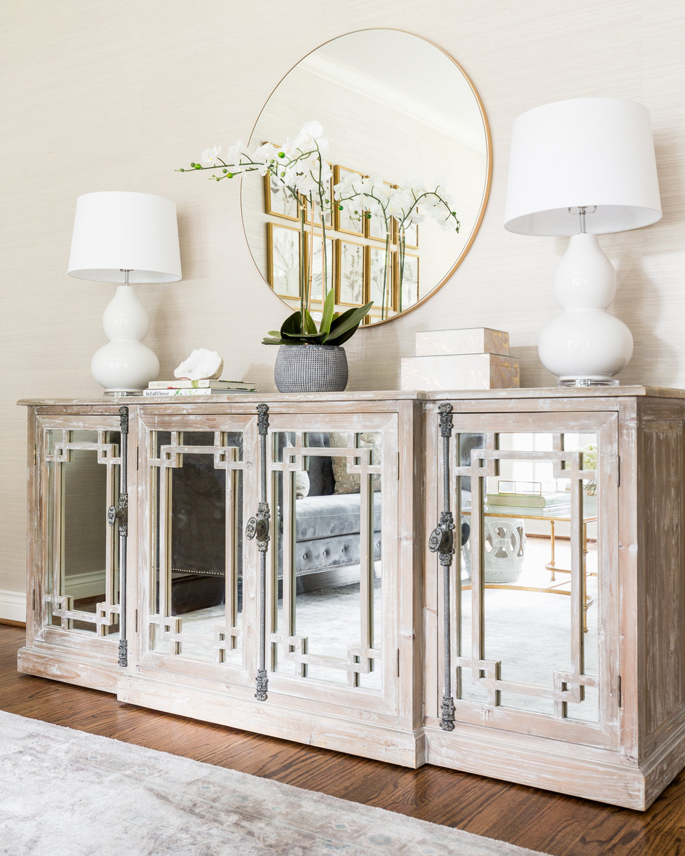 Transitional Mirrored Buffet - Lacey Michalek