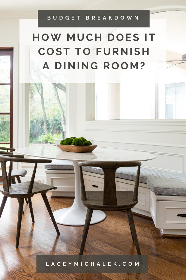 Cost to furnish a dining room Budget Breakdown