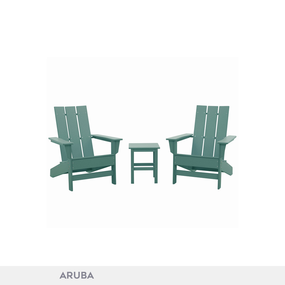 DUROGREEN® Aria Adirondack Chair Set
