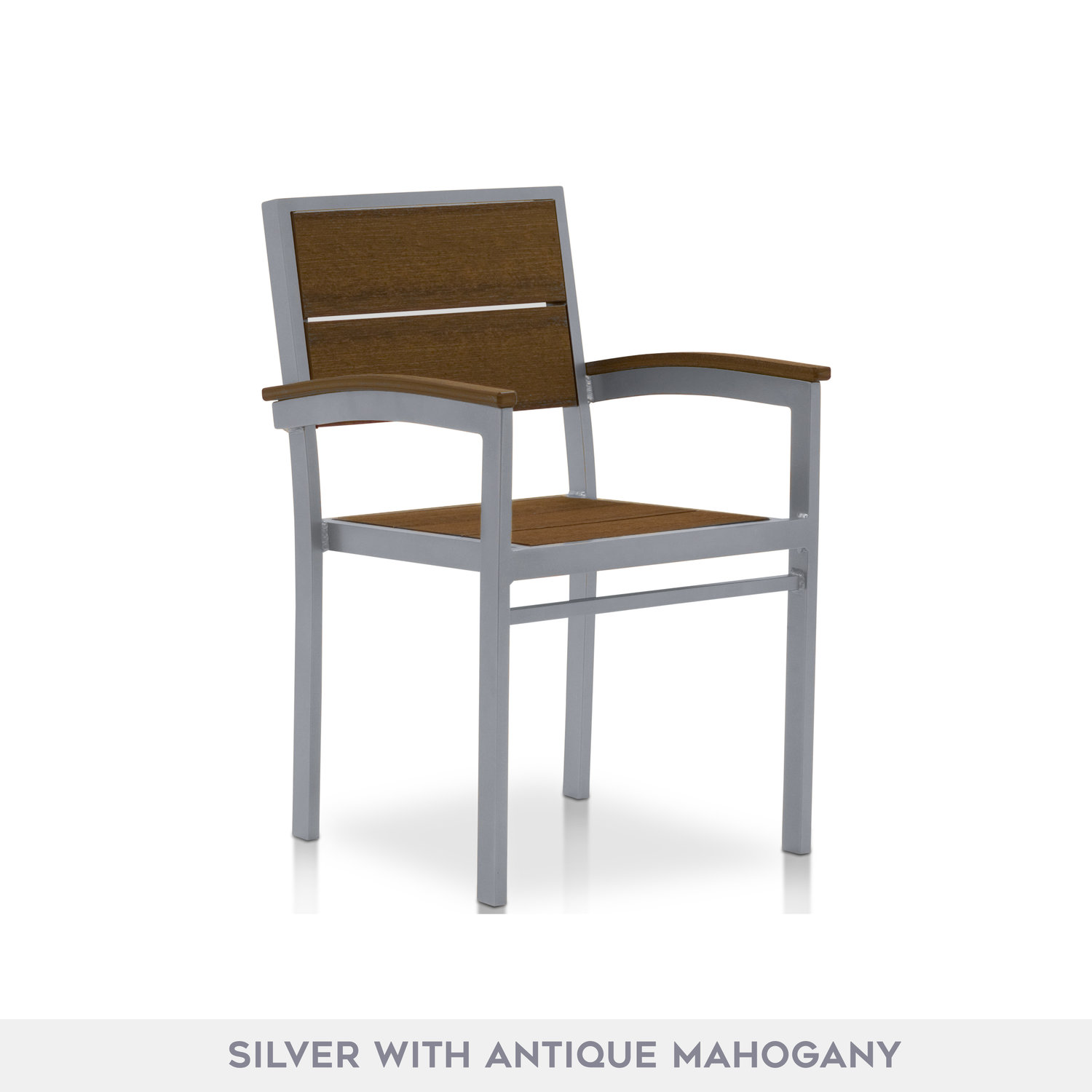 Durogreen park city modern outdoor dining arm chair