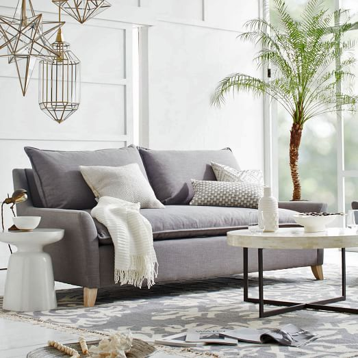 This Bliss down-filled sofa from West Elm is a statement piece that will fill you with bliss.