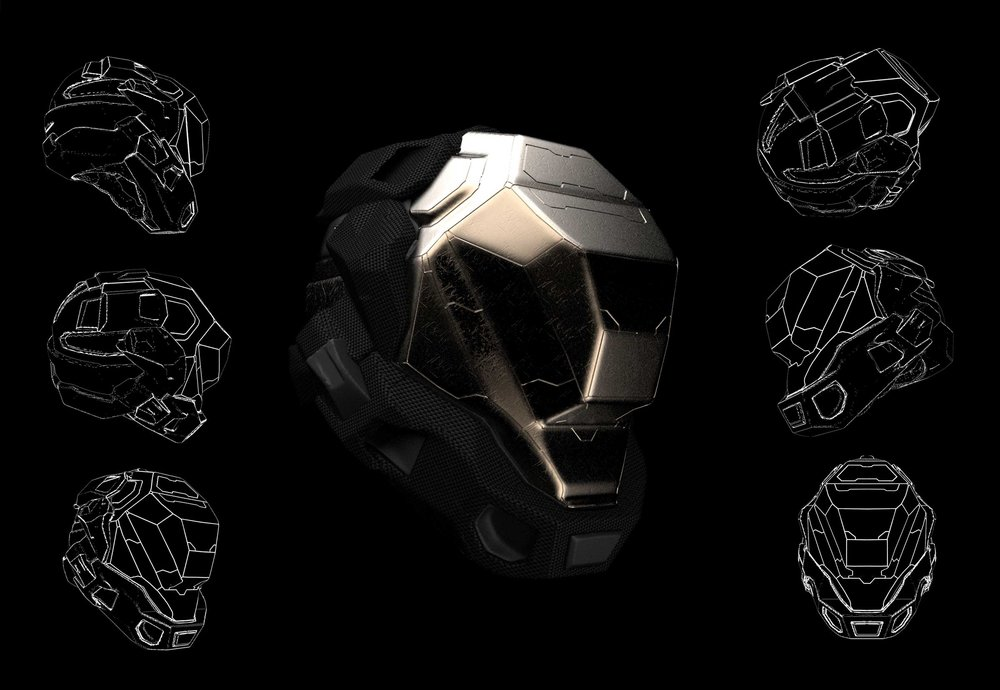 A helmet sketch for learn squared.
