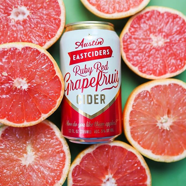 @eastciders ruby red grapefruit. - - - #ruby #rubyred #grapefruit #cider #austin #texas #atx #austintx #austineastciders #beer #craftbeer #wine #liquor #summer