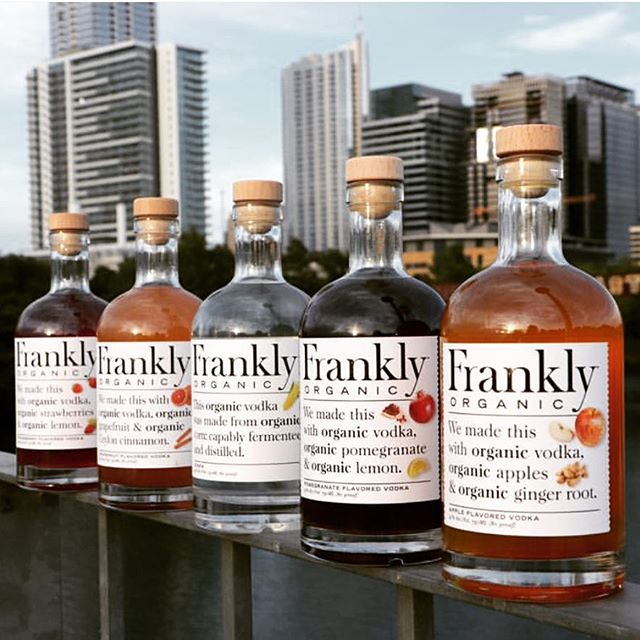 @franklyorganicvodka tasting today from 5p-8p. Made locally in Austin, Texas, with all organic fruit, gluten free and non-gmo ingredients. - - - - #frankly #vodka #cocktails #grapefruit #strawberry #austin #texas #atx #liquor #wine #beer #organic #glutenfree #fruit