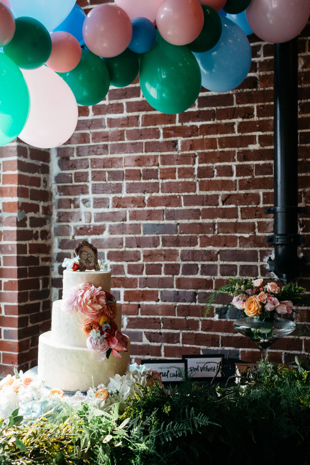 Standard Downtown Knoxville Wedding Venue Central Avenue Happy Holler Exposed Brick Balloons Magpies Cakes