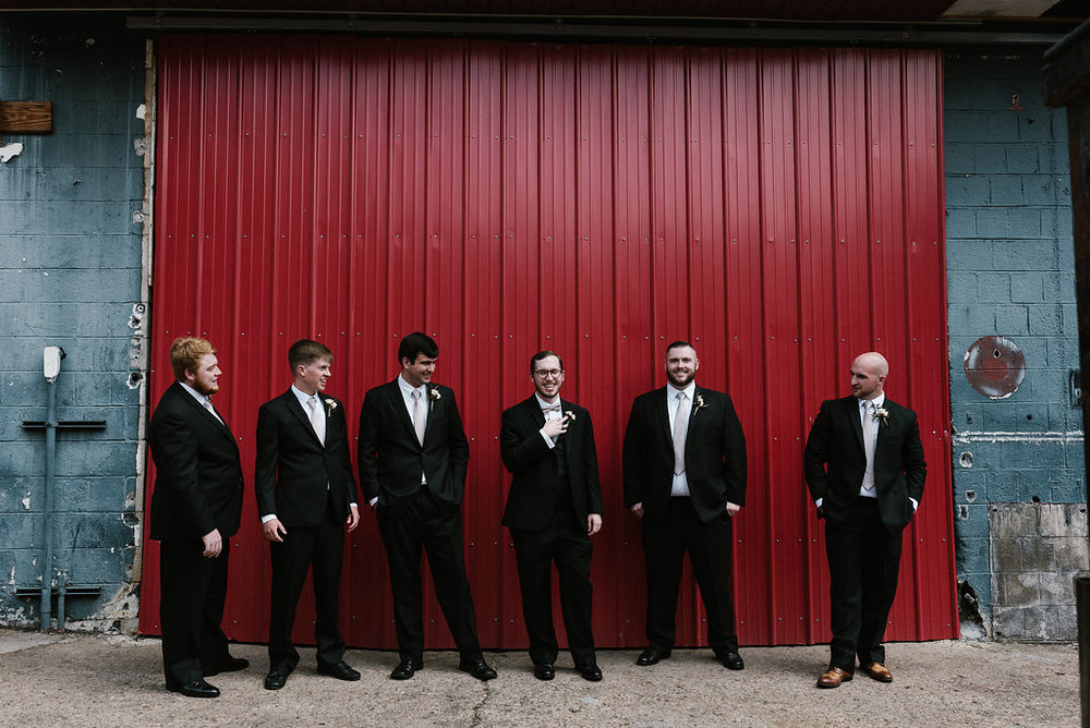 Standard Downtown Knoxville Wedding Venue Groomsmen
