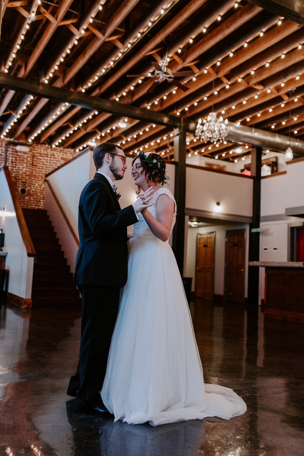 Standard Downtown Knoxville Wedding Venue First Dance Bistro Lights
