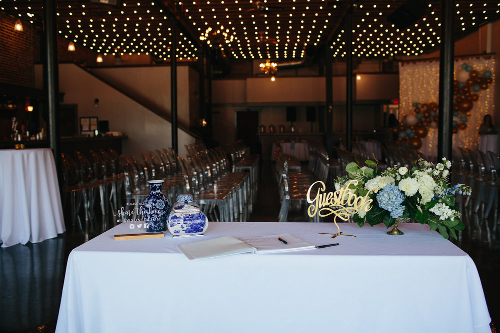 Downtown Knoxville Wedding Reception Venue // Botanical Wedding // Welcome Table