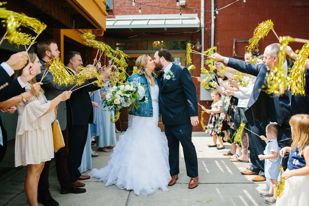 Downtown Knoxville Wedding Reception Venue // Botanical Wedding // Pom Pom Exit