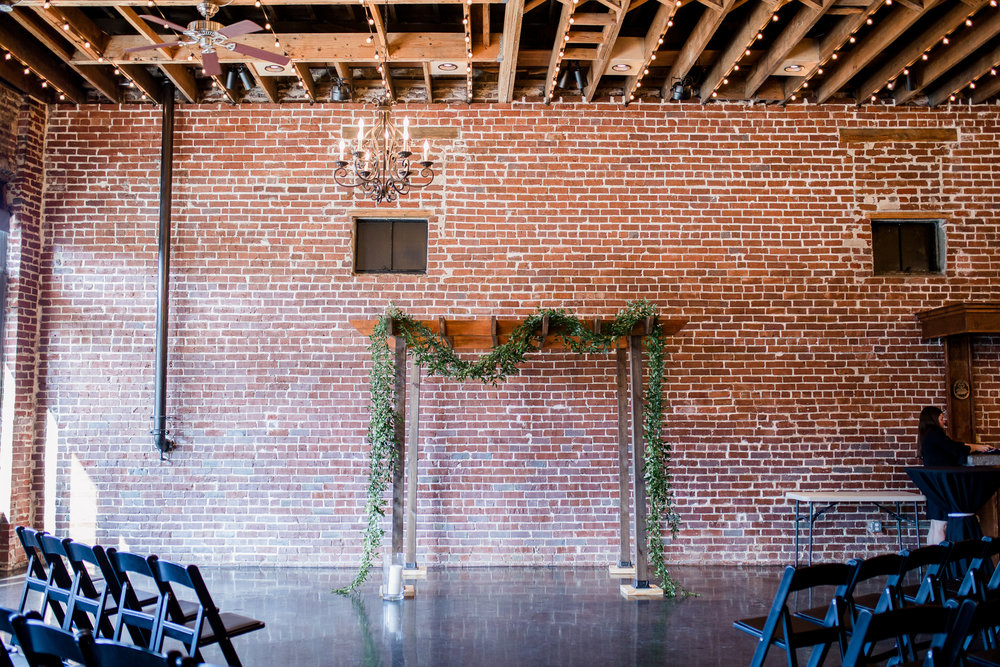 Downtown Knoxville Wedding Venue // Central Avenue Reception // Exposed Brick Indoor Urban Wedding