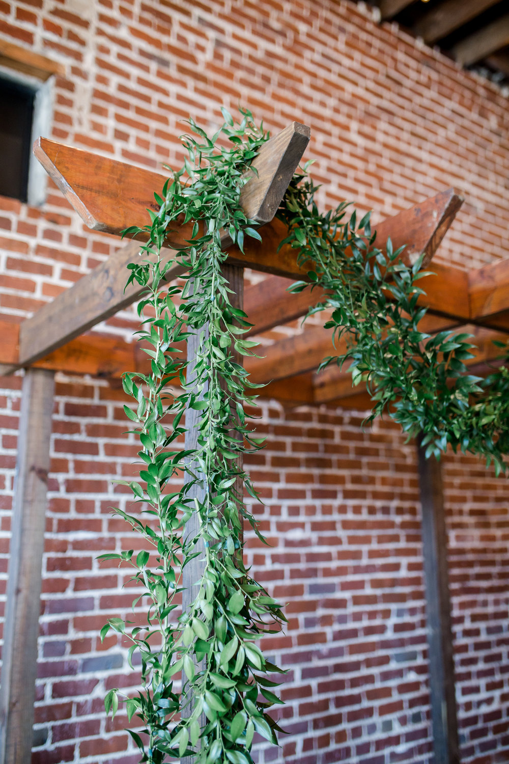 Downtown Knoxville Wedding Venue // Central Avenue Reception // Greenery & Exposed Brick