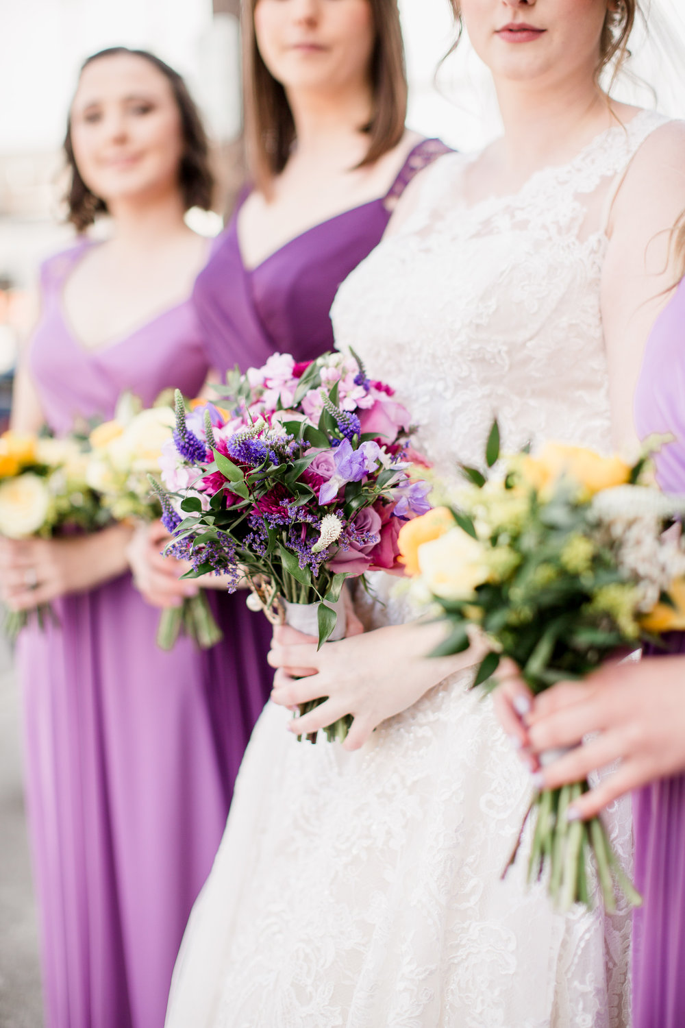 Downtown Knoxville Wedding Venue // Central Avenue Reception // Bridesmaids // Relix Knoxville Floral Design