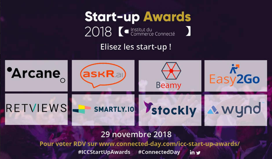 ICC Start Up Awards 2018 start up nominées