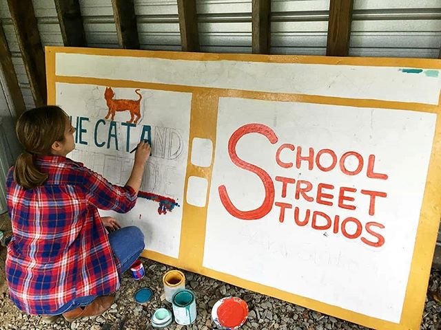 Coming 2019 to Capon Bridge... two new local businesses -- School Street Studios and The Cat and The Fiddle. . Look for the new sign on Capon School Street soon! . GO 26711! . #visitcaponbridge #westvirginia #mywv #gotowv