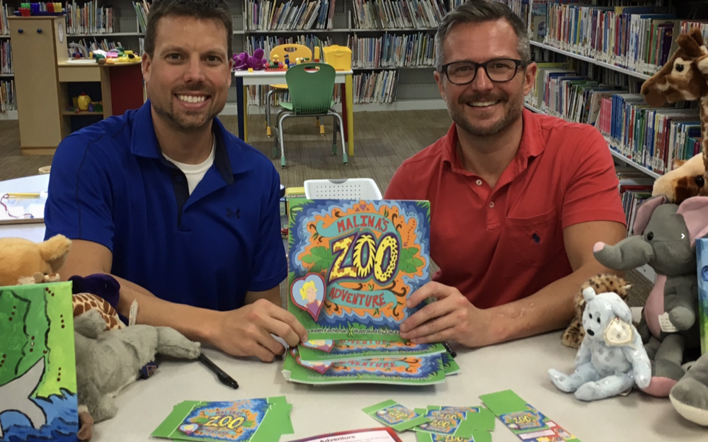 (JINGLE)  Pictured left to right: Author (Keith Fechtman) and illustrator (Eric Erickson) of  Malina's Adventures.