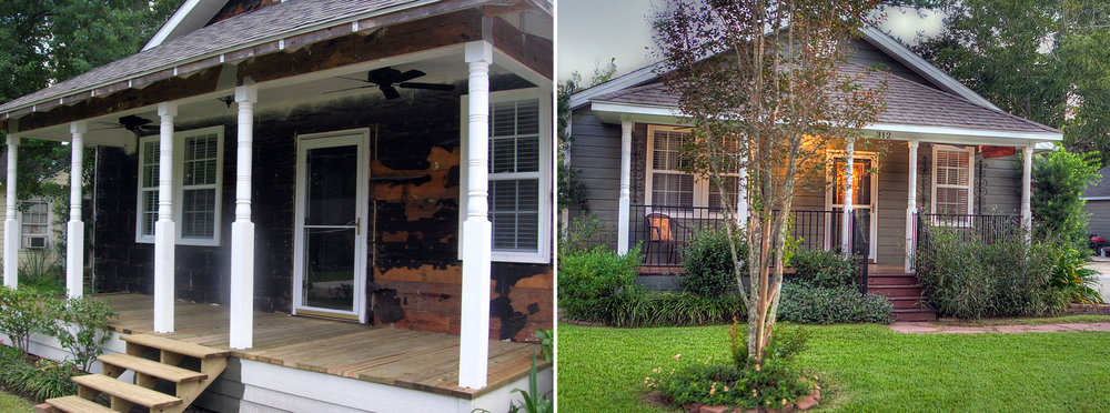 Front Porch Remodel Before & After