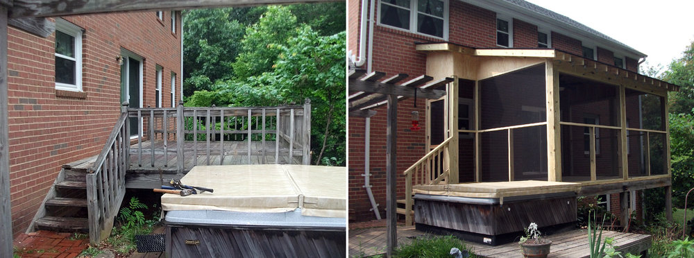 Batesville Screened Porch Before & After