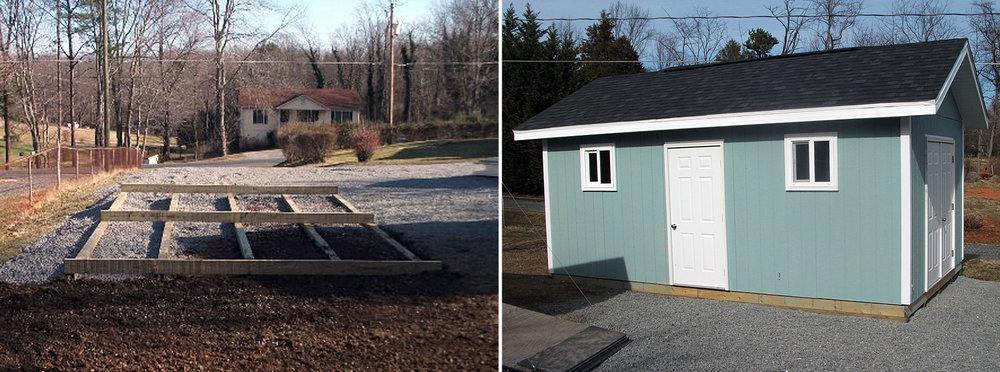 Crozet Shed Before & After
