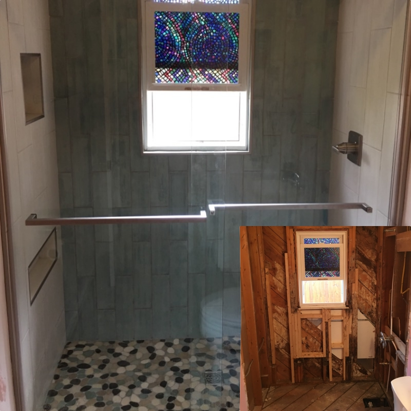 Bathroom transformation!