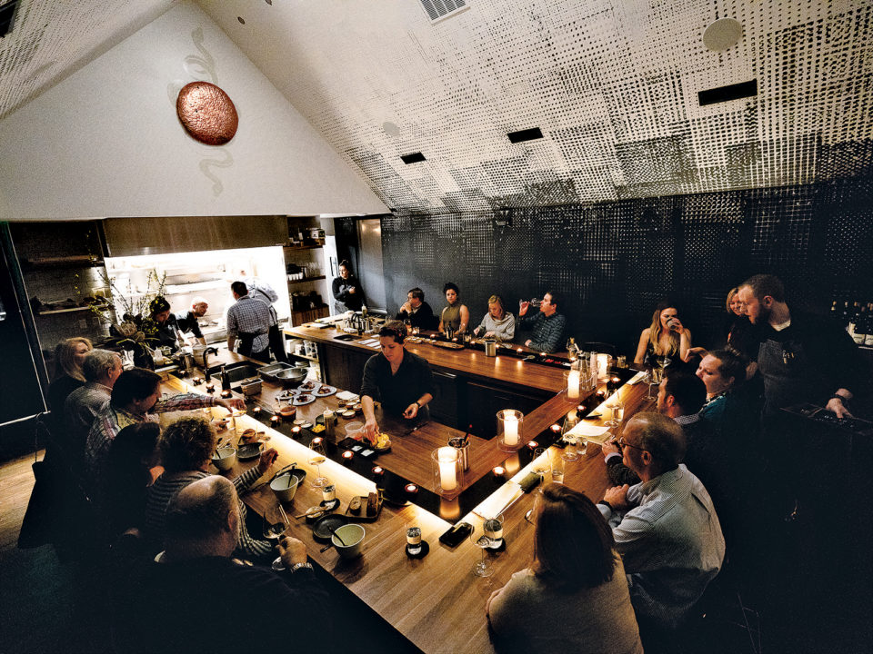 5280 | At Beckon, Dinner Is the Show - Guests get front-row views of executive chef Duncan Holmes and his team as they sauté, slice, pour, and plate a bounty of Scandinavian-inspired courses.