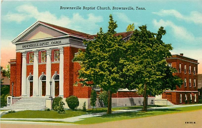 W Main Baptist Church Postcard