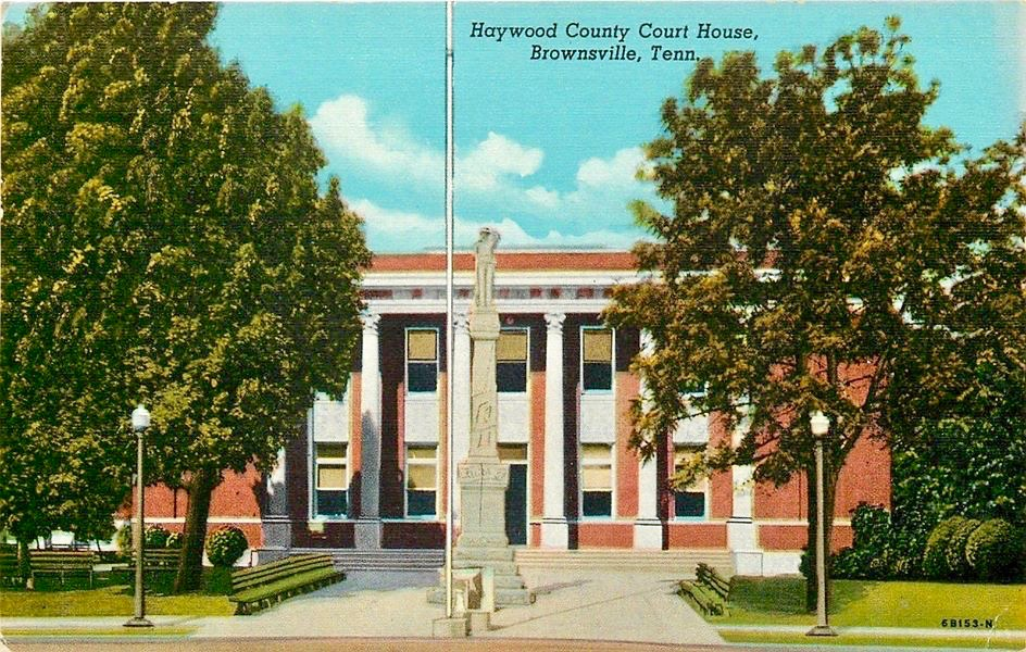 Haywood Courthouse Postcard 1940s Duke