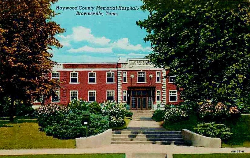 Haywood Hospital E College Brownsville Postcard Duke