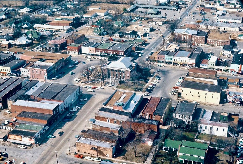 Brownsville TN - 1960's Aerial by Jim Miller