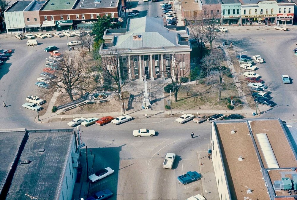 Haywood Courthouse 1960s Aerial Jim Miller