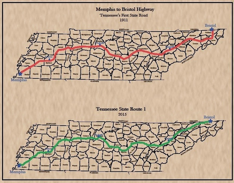 Map Memphis Bristol Hwy