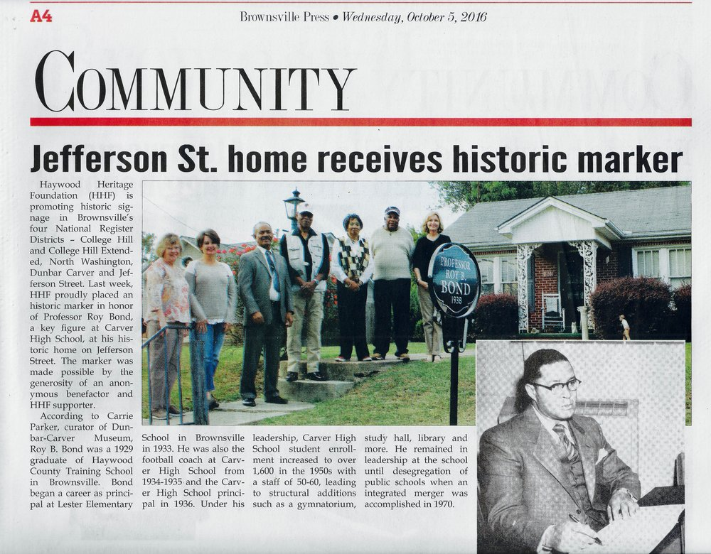 Jefferson St home gets historic marker