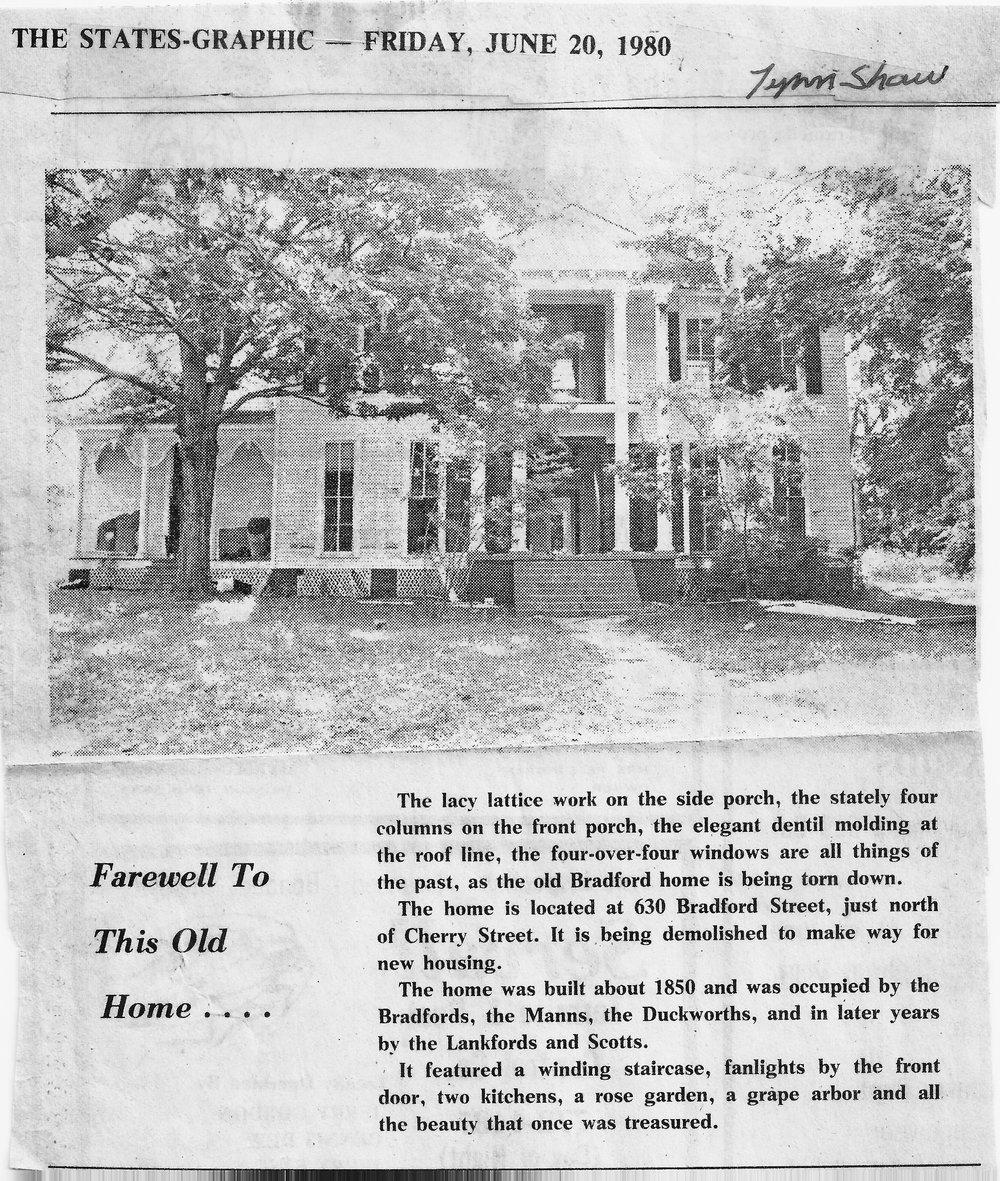 Brownsville TN Lost Dr. Scott Home