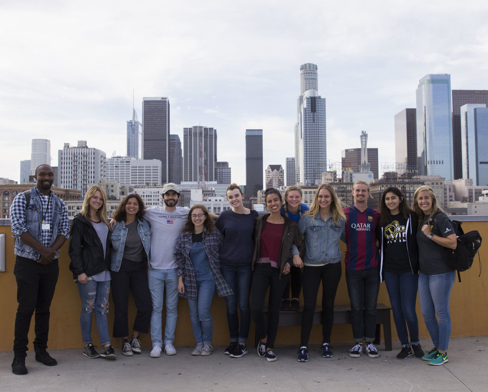 Team picture on the roof of Union Rescue Mission.