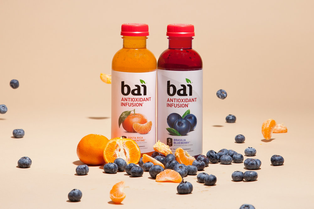 BaiRealized Investment - Bai offers low-calorie, low-sugar antioxidant infusion beverages in a variety of exotic refreshing flavors. Sweetened with stevia leaf extract, each Bai beverage has just 5 calories, 1 gram of sugar and no artificial sweeteners.www.drinkbai.com