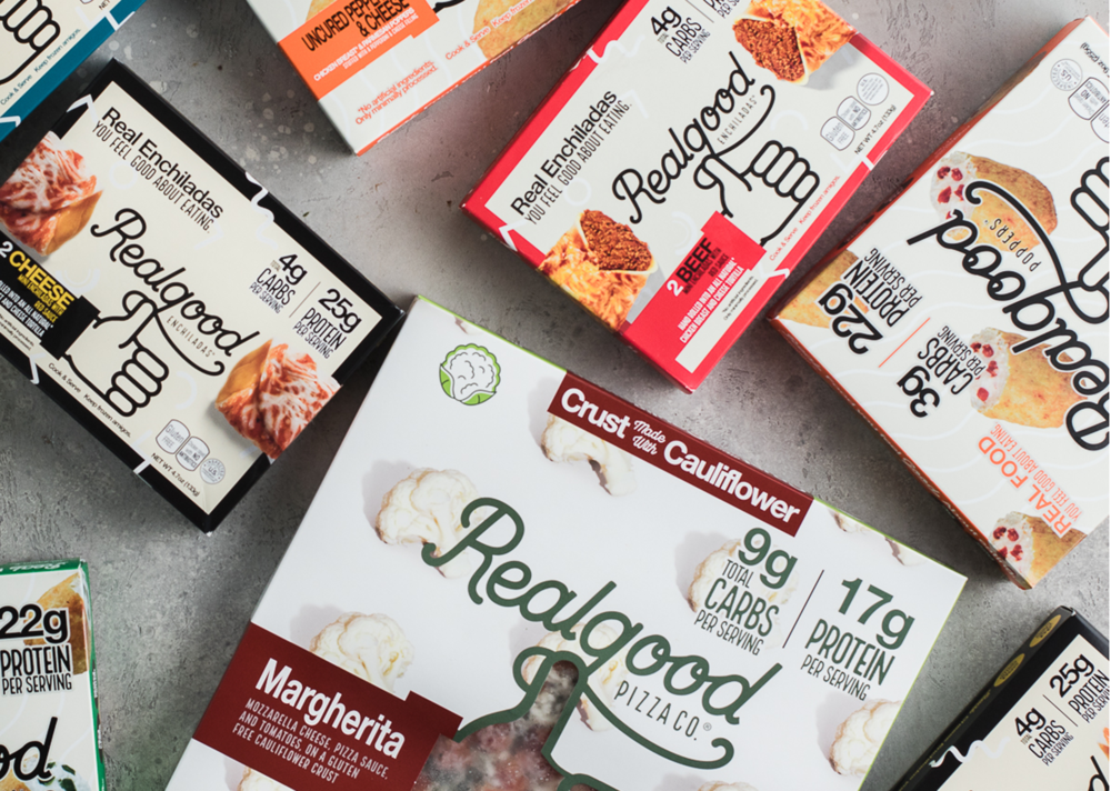 Real Good Foods - Real Good Foods offers delicious, high-protein and low-carb alternatives to traditional frozen foods. The Company launched its chicken crust pizzas in 2016 and expanded with chicken tortilla enchiladas, cauliflower crust pizzas, chicken poppers, pizza snack bites, and more. All of the Company's products are grain-free, gluten-free, and made with all natural ingredients and zero preservatives.www.realgoodfoods.com
