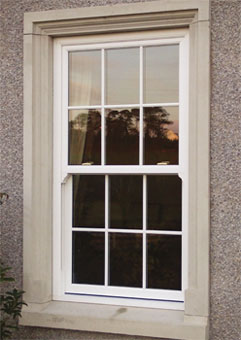 Our sliding sash windows feature a unique counter balance system using  stainless steel cable, enabling the use of double glazing with minimal maintenece.