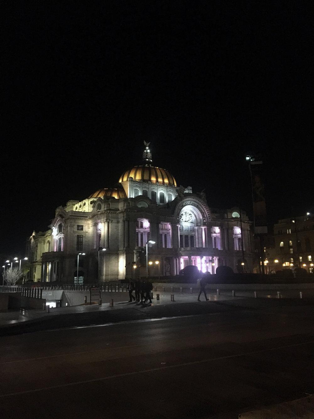 Palacio de Bellas Artes.