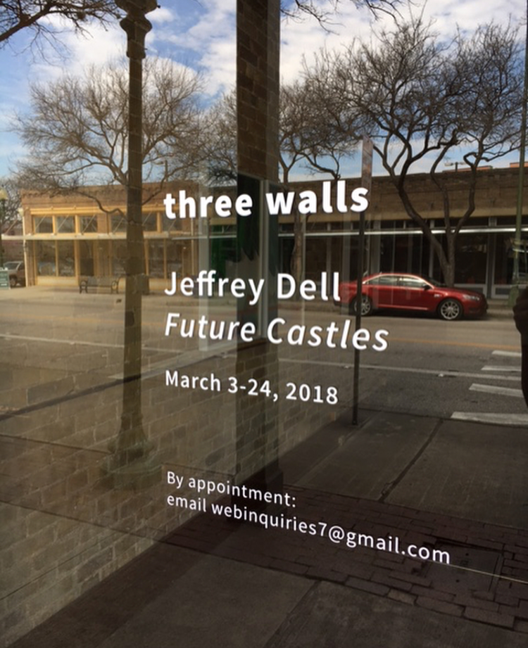 "Jeffrey Dell's opening reception for ""Future Castles,"" at Three Walls pop-up space in San Antonio."