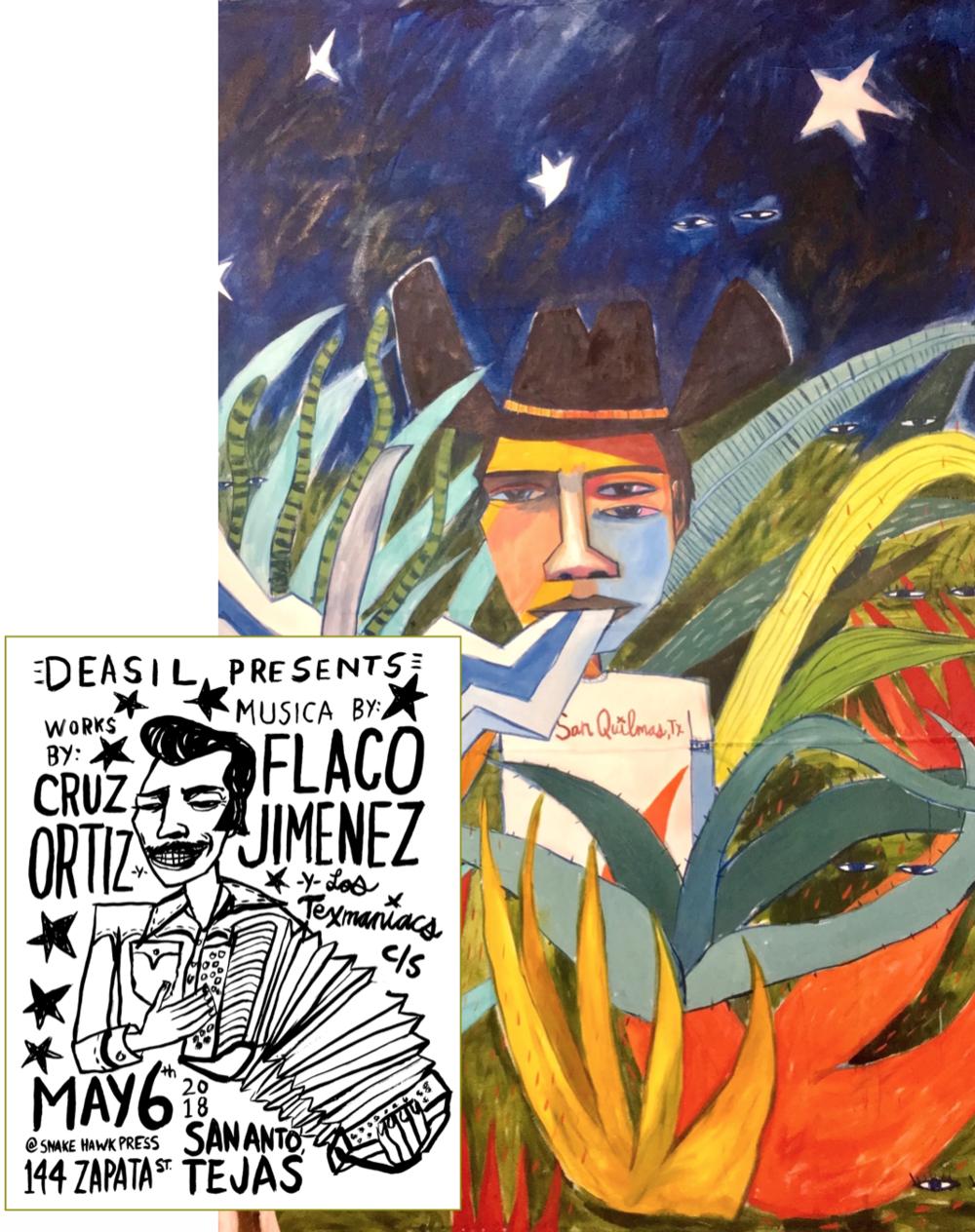 Cruz Ortiz ...........musica byFlaco Jimenez - -Y- Los Texmaniacsat Snake Hawk PressSan Antonio, TXMay 6, 3pm - quien sabe