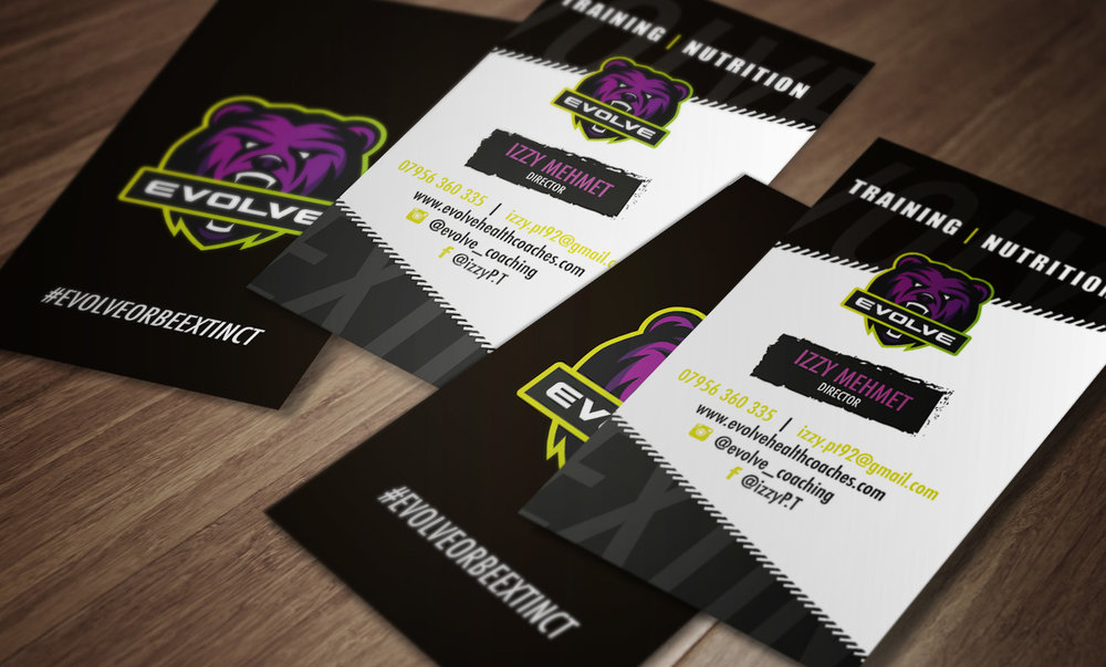 EVOLVE FITNESS BUSINESS CARD