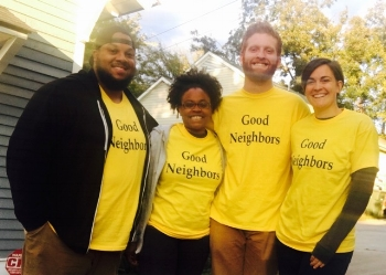 A few of the members of The Good Neighbor Movement before heading out on the streets to listen to neighbors' stories !