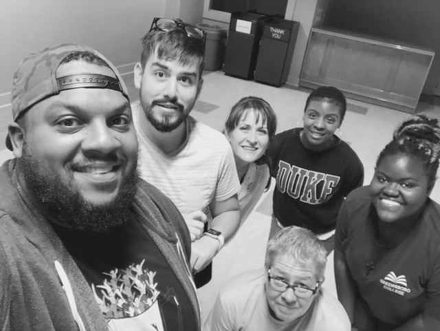 Joey and Patricia offering encouragement and answering questions at a training for the new downtown city village facilitators. Pictured from left to right: Brandon, Aiden, Vheenah (in front), Joey, Patricia, and Sydney (in back).