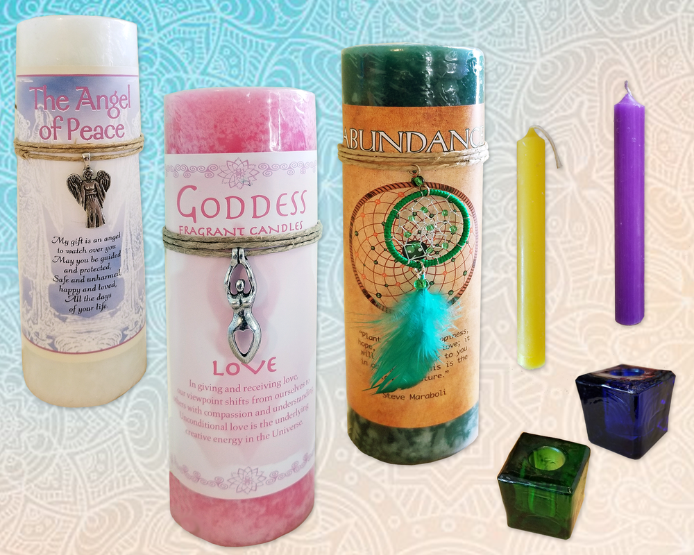 Candles - We carry a wide variety of candles and accessories.
