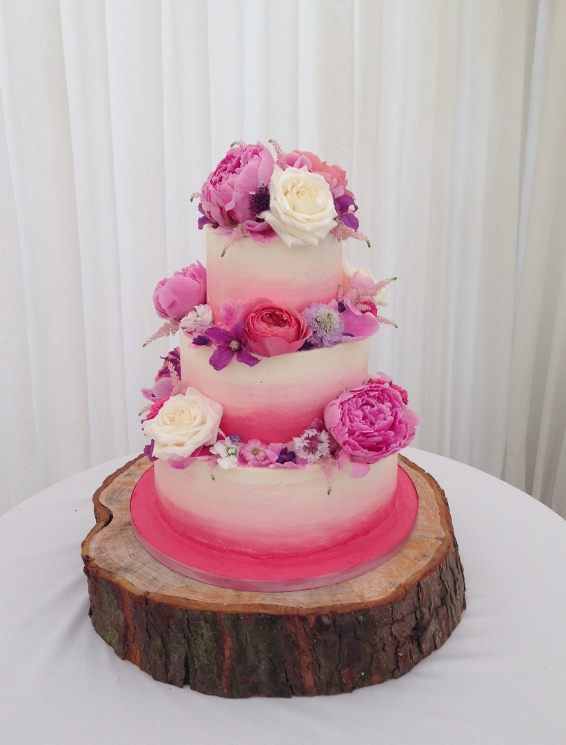ombre wedding cake. Loren Brand Cakes