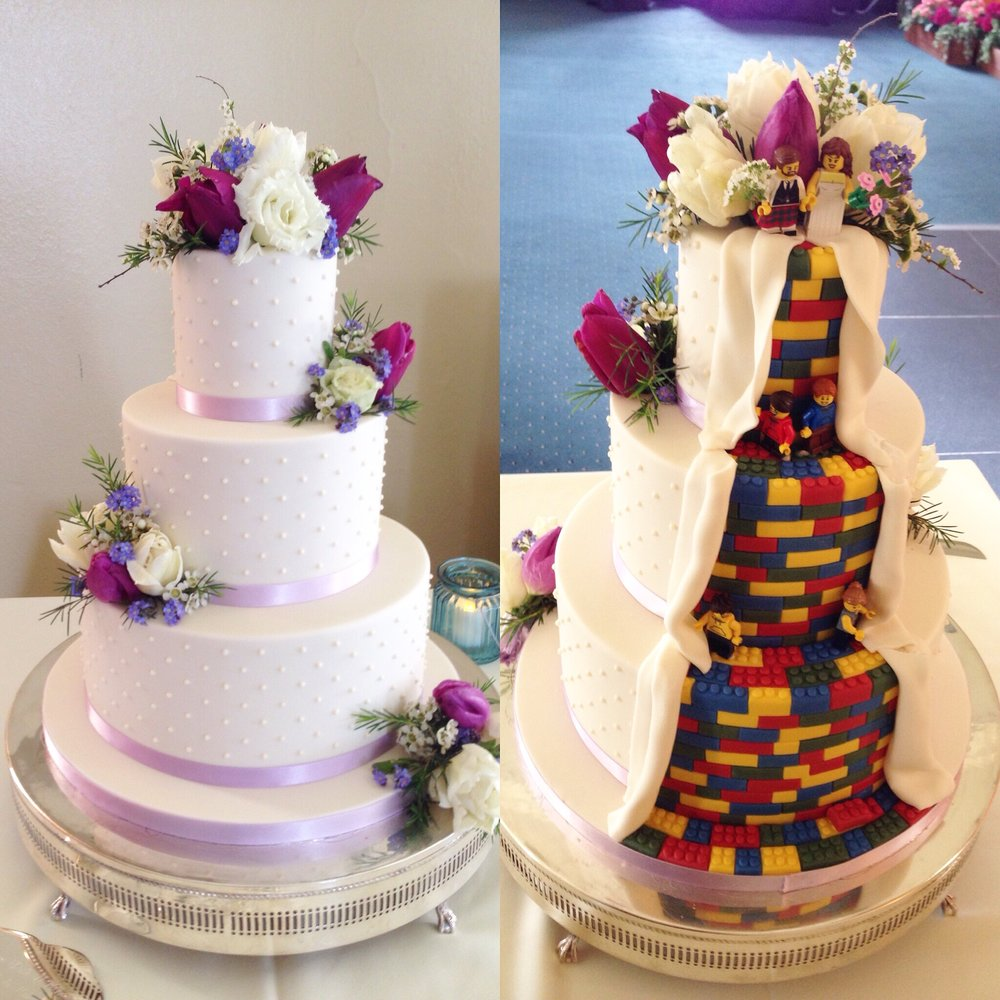 Lego wedding cake. Loren Brand Cakes