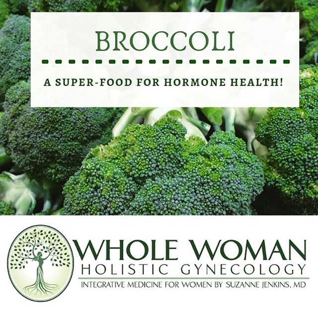 Food as Medicine: Broccoli contains some powerful hormone healers, like di-indolylmethane (DIM) and sulforaphane!  In younger women, they may help promote detoxification and healthy metabolism of estrogens in the liver, preventing symptoms of estrogen dominance (like heavy bleeding or fibrocystic breast changes). In the wisdom years of menopause, when estrogen levels are naturally lower, they act as phyto-estrogens, meaning they can actually provide partial stimulation to the estrogen receptors!  Just one more reason to eat your broccoli! (Tip: To get the most nutritional value from your broccoli, eat it raw or wait at least 20-30min after chopping it up to cook it!) #foodismedicine #healthyfood #healwithfood #broccoli #supplements #vitamins #holistichealth #holisticgynecology #oberlin #wwhgyn