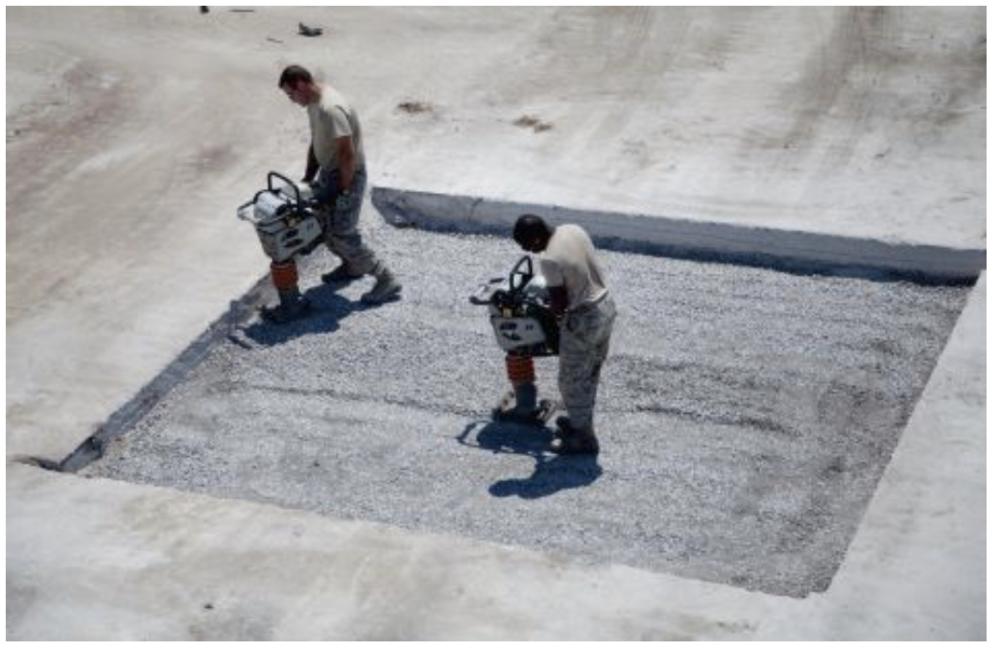 installing runway repair