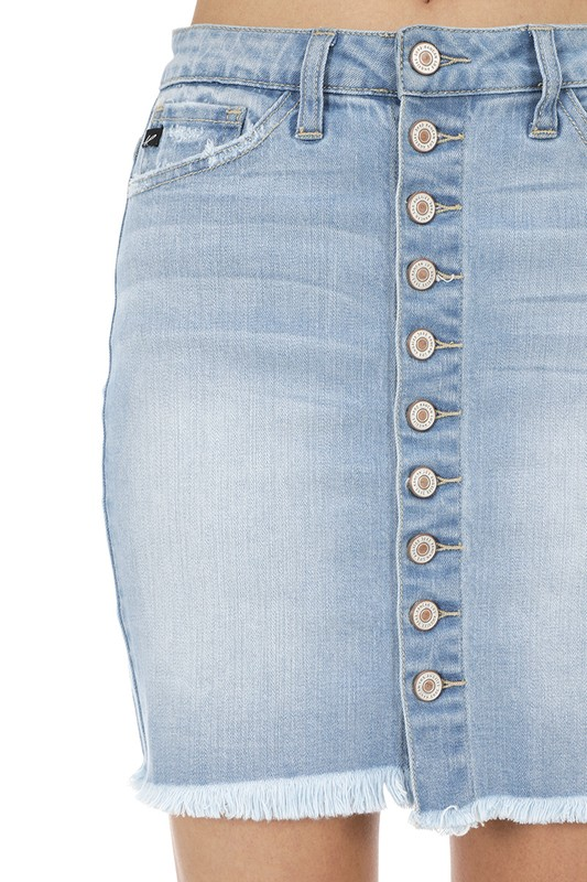 f5ef495ec33a Button Down Jean Skirt — STYLE HUNT